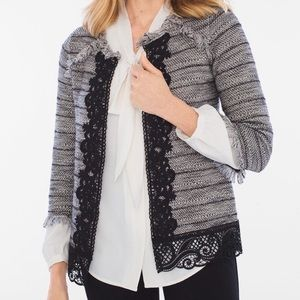 Chico's Lace Tweed Cardigan size 0 (4/6) NWT